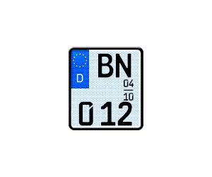 Selbstleuchtendes Saisonkennzeichen G-elumic® für Motorräder
