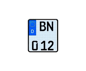 Selbstleuchtendes Motorradkennzeichen G-elumic®