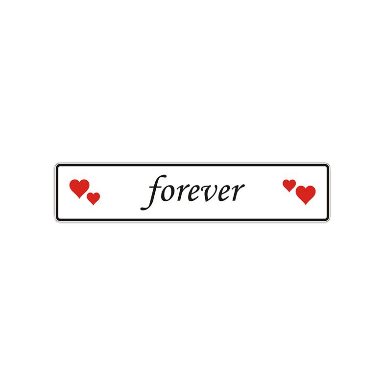 Spruchschild – forever