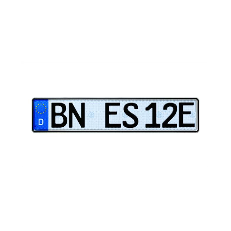 Selbstleuchtendes Elektroauto Kennzeichen