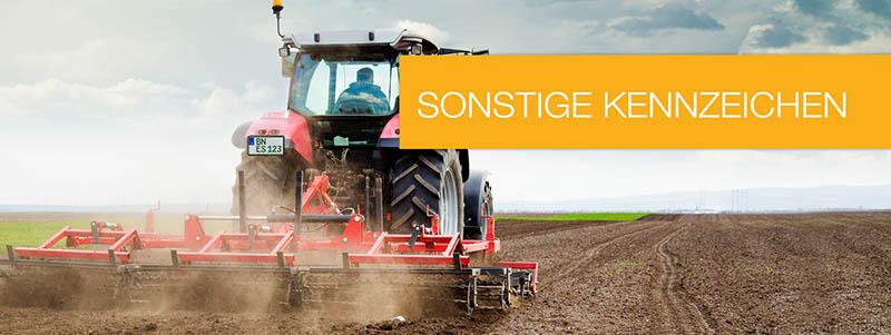 Traktor Kennzeichen online kaufen