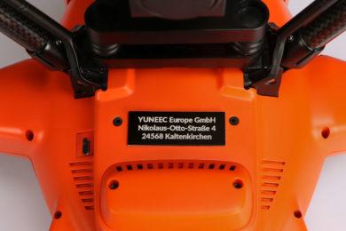 Yuneec H520 Plakette