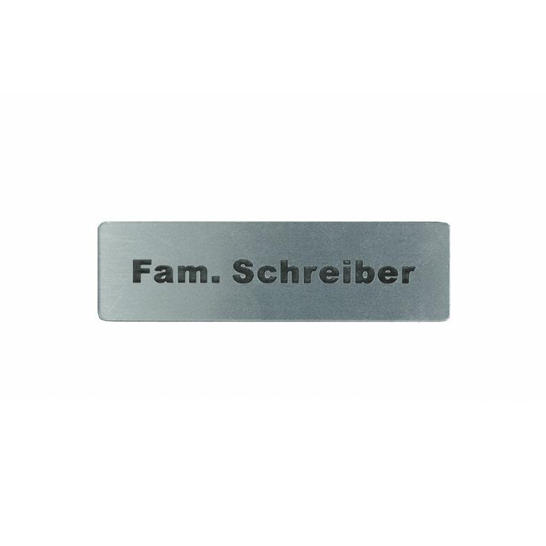 Klingel Schild Familienname Briefkastenschild Aufkleber