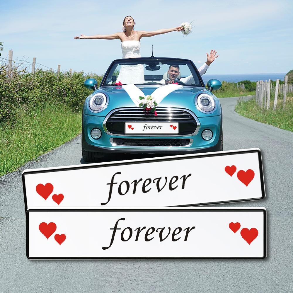 Forever Schild Auto Hochzeit