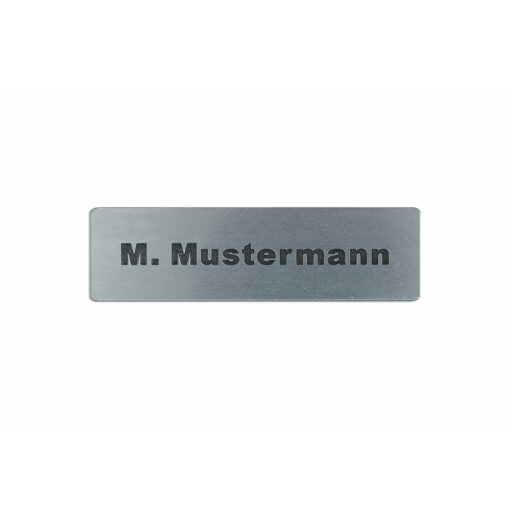Briefkastenschild Vor- und Nachname Aufkleber Edelstahl glatt Optik