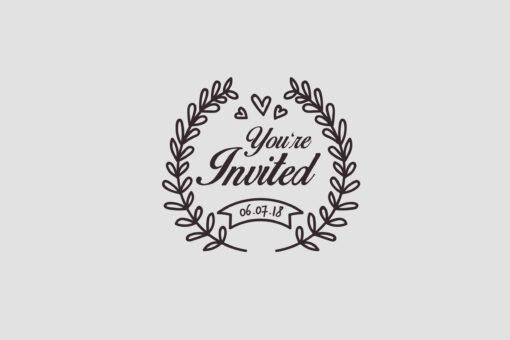 Hochzeit Einladung Stempel mit Datum Motiv 1 Hochzeitsstempel online kaufen