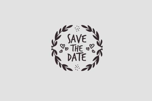 Save the Date Stempel Motiv 1 Hochzeitsstempel online kaufen
