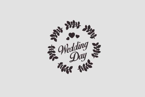 Wedding Day Stempel Motiv 2 Hochzeitsstempel online kaufen