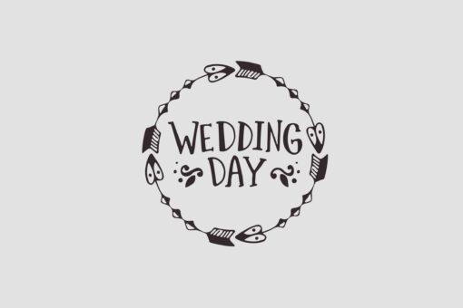 Wedding Day Stempel Motiv 1 Hochzeitsstempel online kaufen