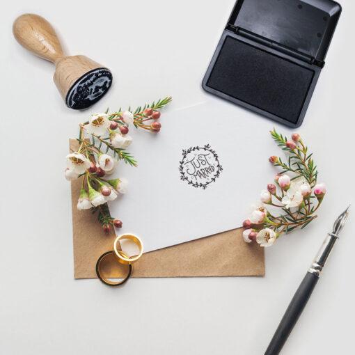 Just Married Stempel Motiv 1 Hochzeitsstempel online kaufen