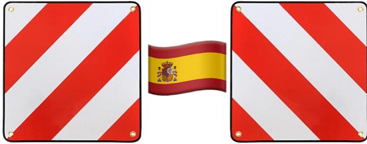 Anordnung für zwei Warntafeln in Spanien