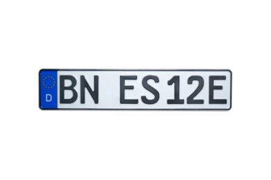 E-Kennzeichen in Carbon-Optik