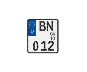Motorrad-Saisonkennzeichen in Carbon-Optik