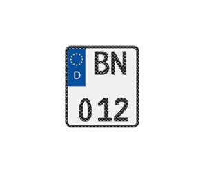 Motorradkennzeichen in Carbon-Optik