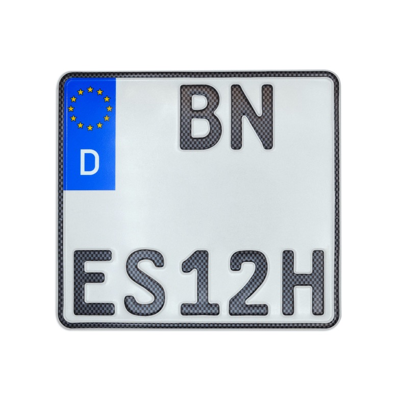 Motorrad H Kennzeichen in Carbon-Optik