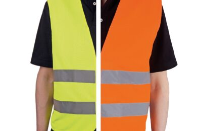 Warnweste Gelb oder Orange gemäß EN ISO 20471