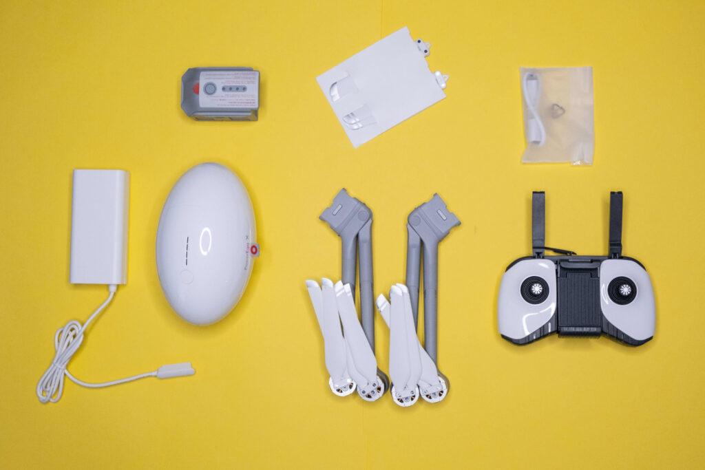 Lieferumfang der PowerEgg X Drohne