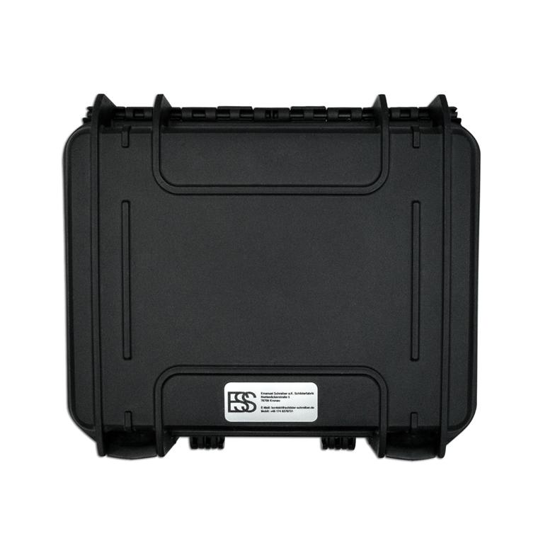 Drohnen-Koffer-Schild mit Logo