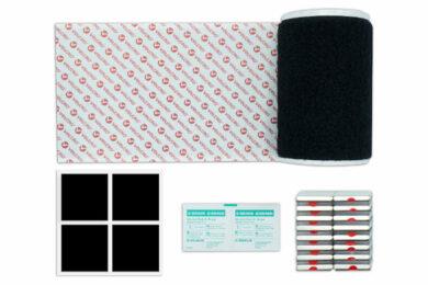 MagNfix Magnet Kennzeichenhalter mit Kennzeichenflausch, Alkoholtupfer und Schutzfolie