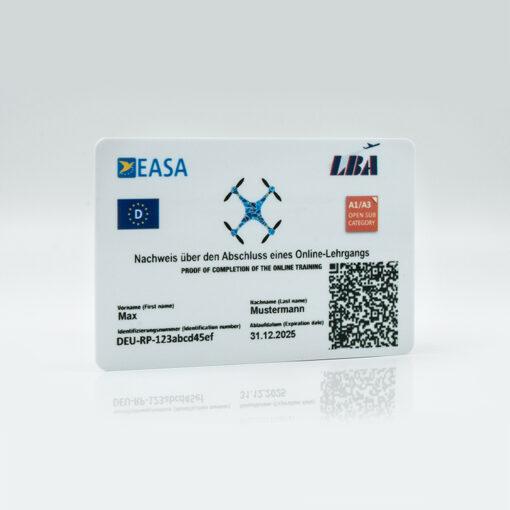 EU-Drohnenführerschein Scheckkarte LBA Deutschland