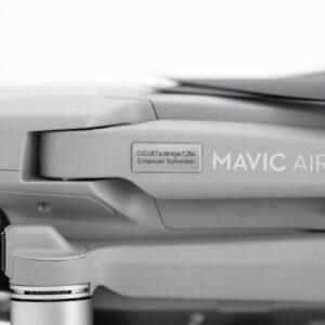 e-ID Plakette Nano Slim Silber An Mavic Air 2