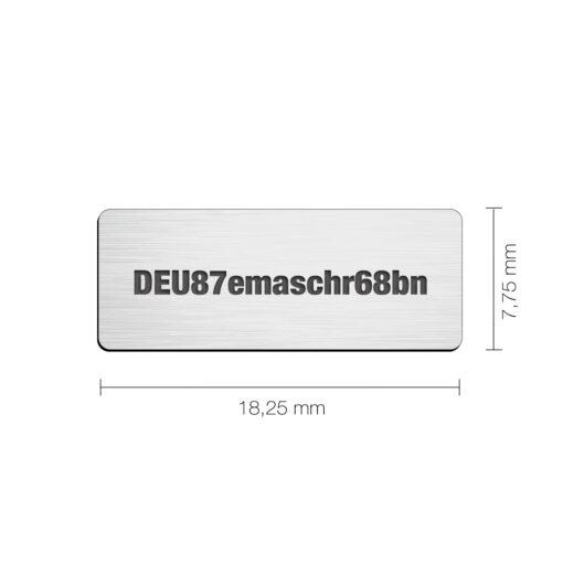 e-ID Plakette Nano Slim Silber