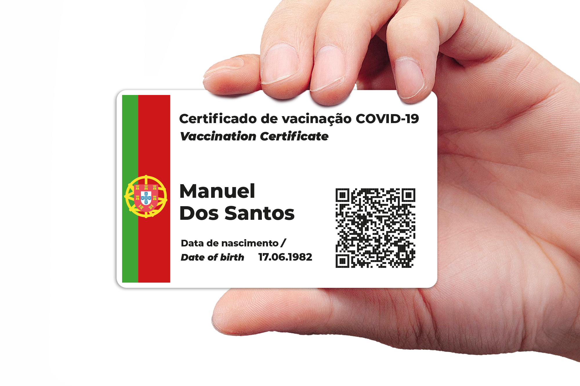Corona Impfpass drucken Spanisch Certificado de vacunacion CovPass App als Karte, Corona Warn App